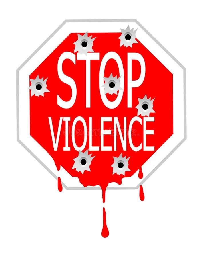 Pare la violencia stock de ilustración