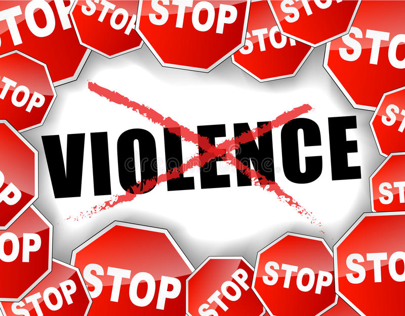 Pare la violencia libre illustration