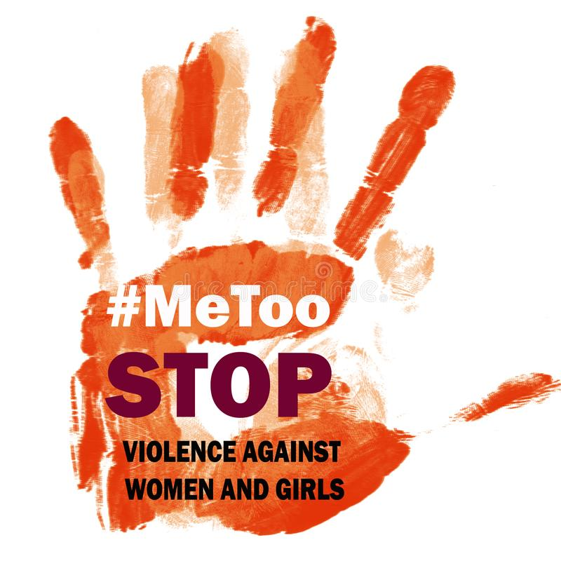 Pare la violencia contra el símbolo de Me Too de las mujeres libre illustration