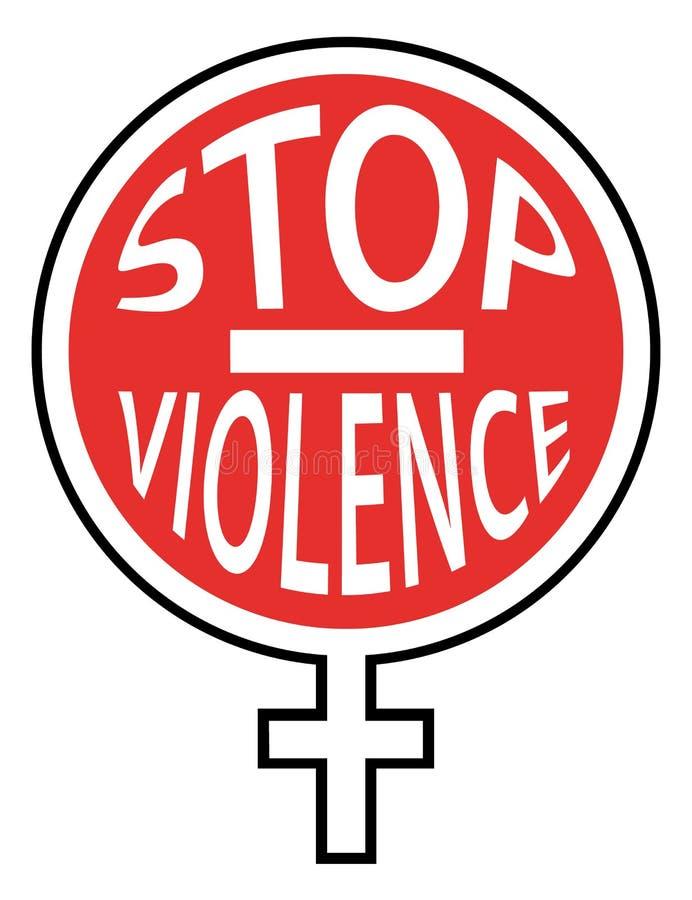 Pare la violencia contra mujeres Icono rojo ilustración del vector