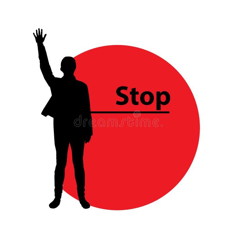 Pare la violencia contra mujeres Mujer ilustración del vector