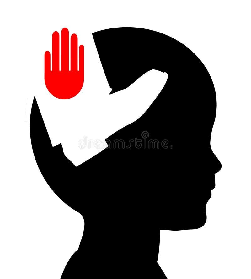 Pare la violencia contra niños ilustración del vector