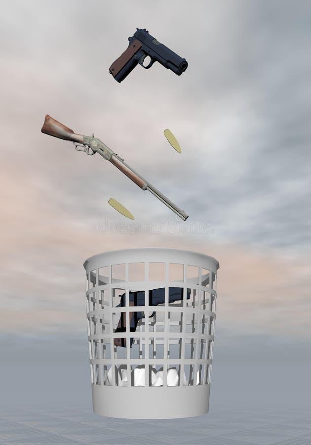 Pare la violencia del arma - 3D rinden ilustración del vector