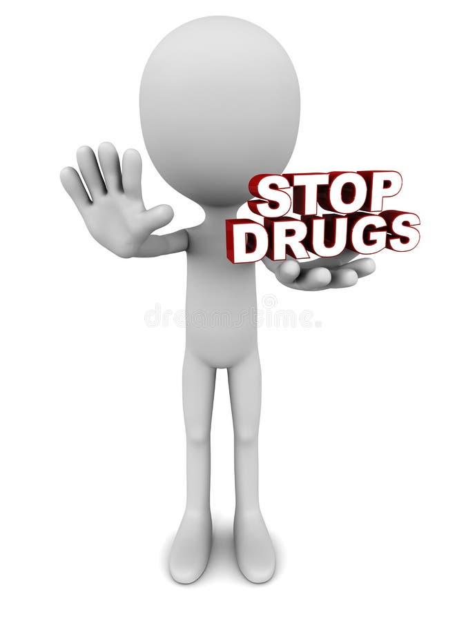 Pare las drogas libre illustration