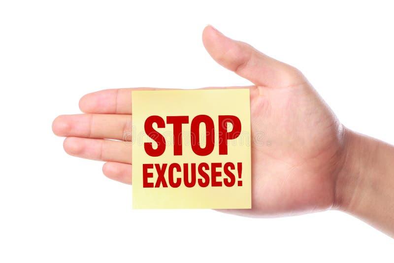 Pare las excusas fotos de archivo