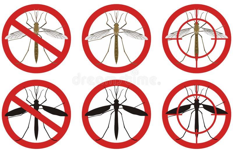 Pare las muestras del mosquito Un sistema de muestras del control de parásito de insecto Ilustración del vector ilustración del vector