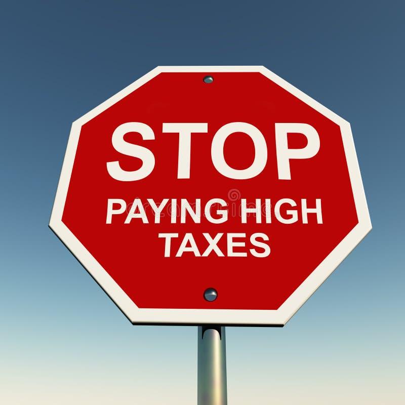 Pare los altos impuestos ilustración del vector