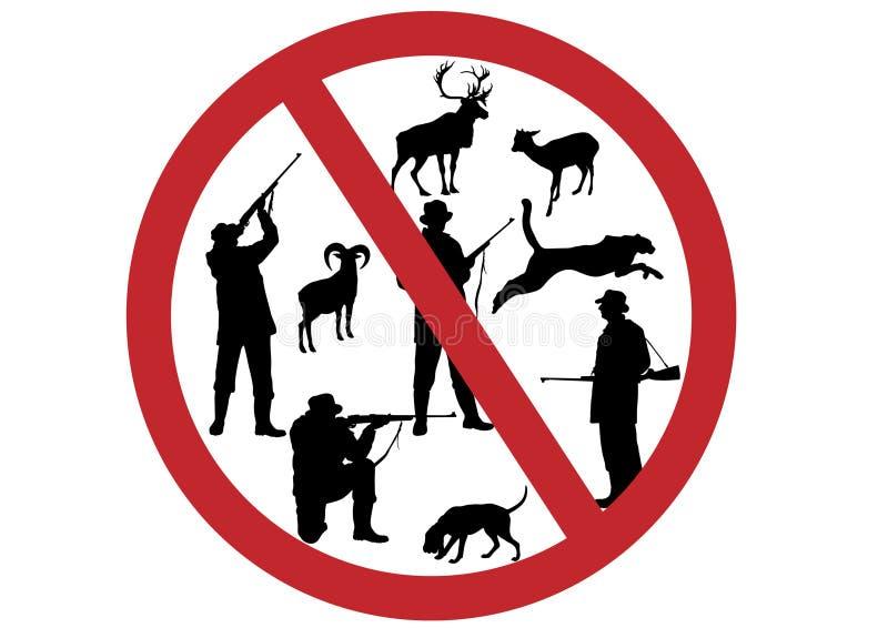 Pare los animales de la matanza stock de ilustración