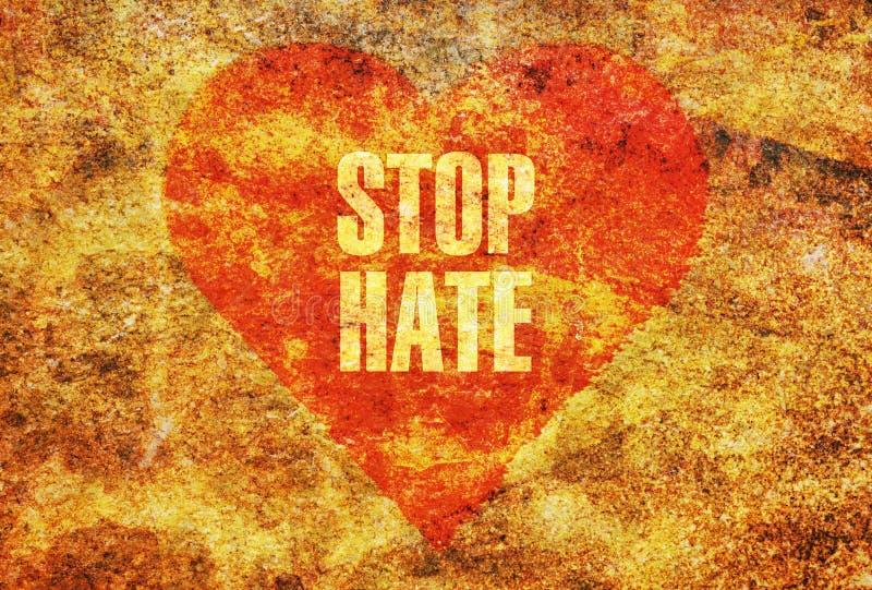 Pare o ódio foto de stock