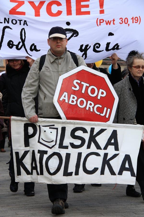 Pare o aborto! fotos de stock