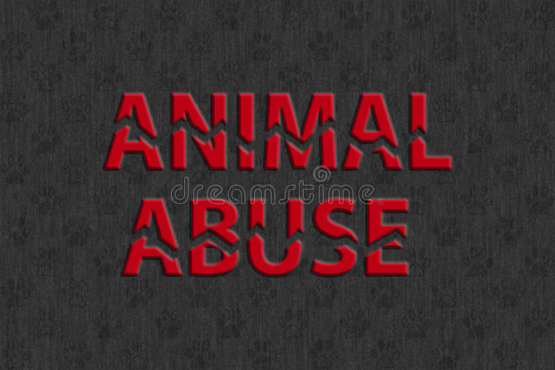 Pare o abuso animal ilustração do vetor
