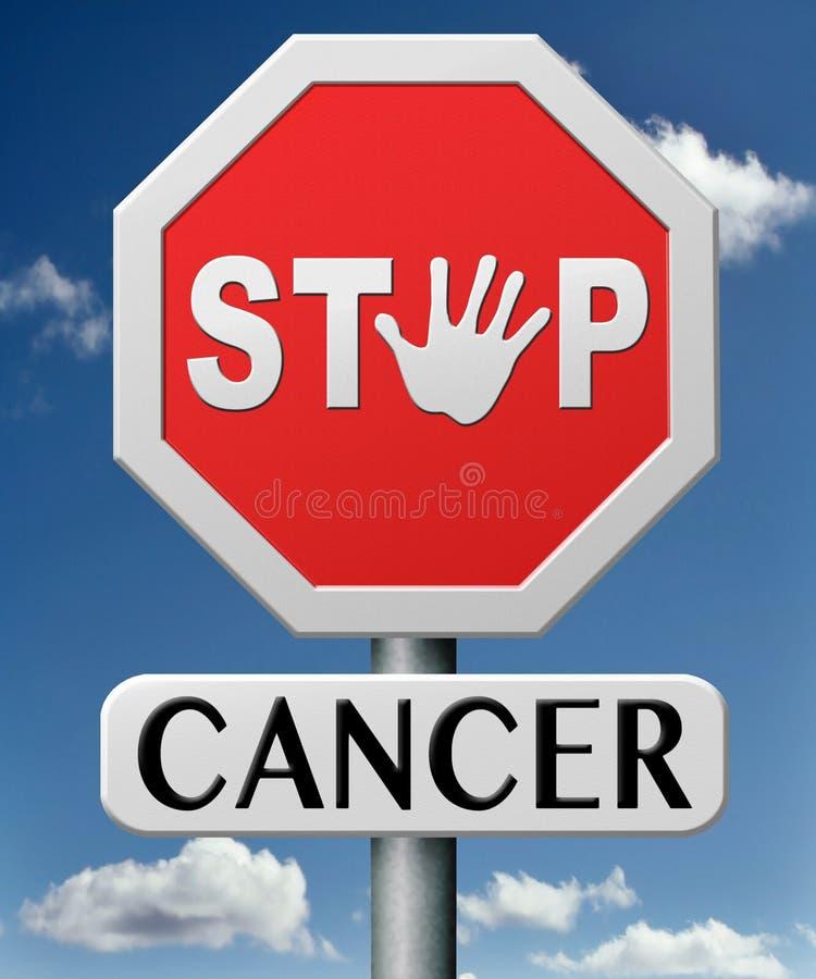 Pare o cancro pela prevenção ilustração royalty free
