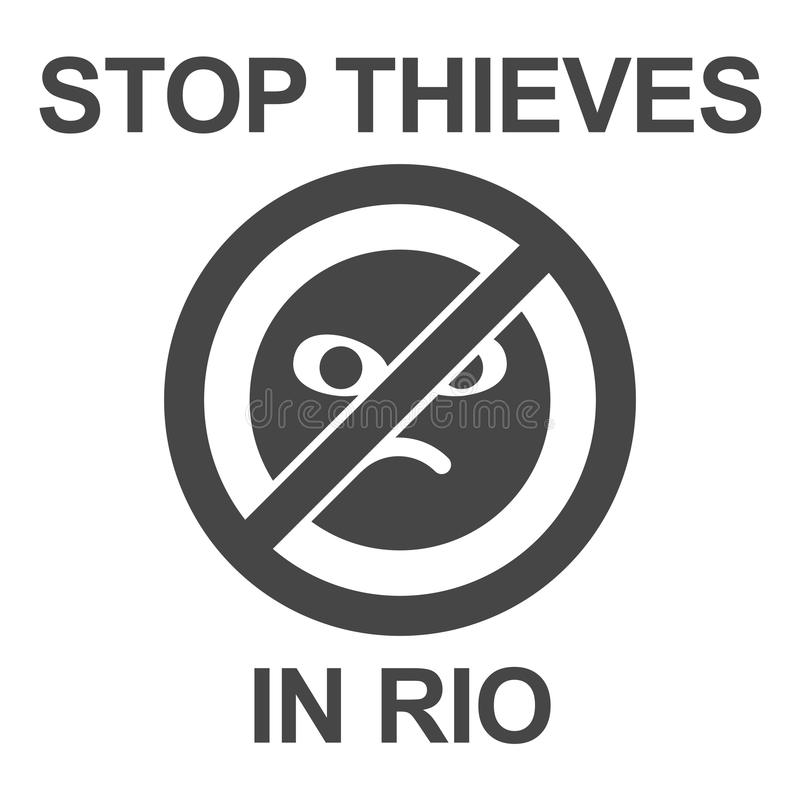 Pare o cartaz dos ladrões ilustração royalty free