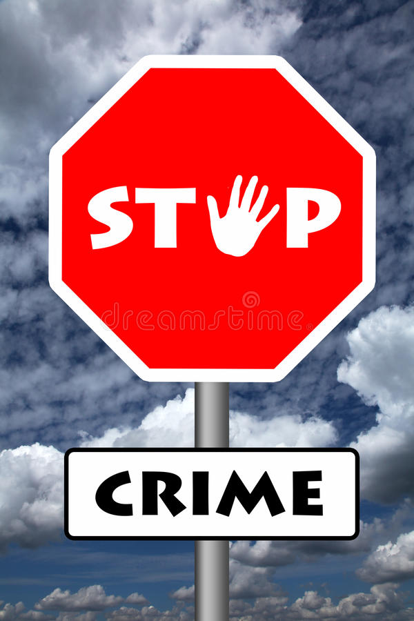 Pare o crime ilustração royalty free