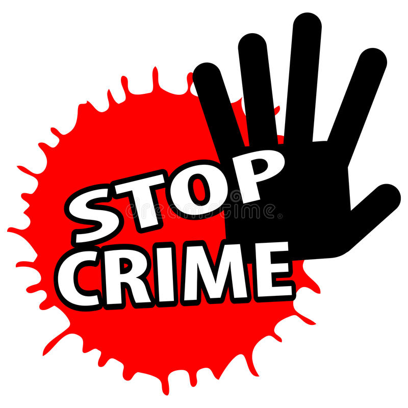 Pare o crime ilustração do vetor