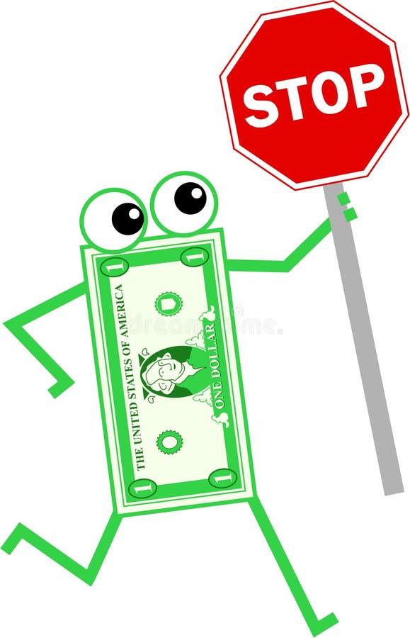 Pare o dólar ilustração royalty free
