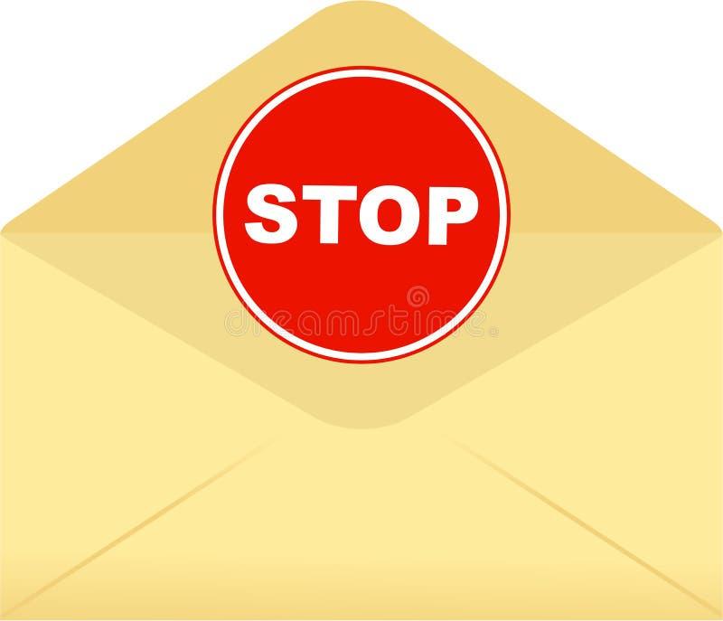 Pare o envelope ilustração do vetor