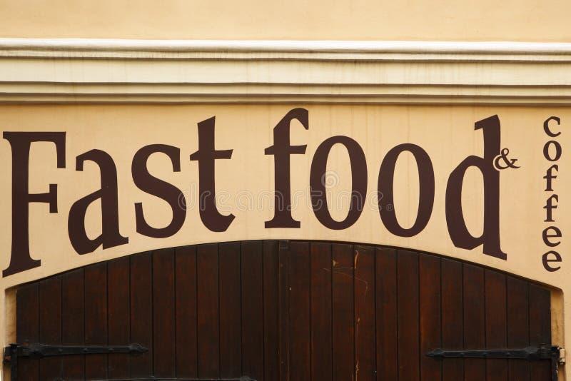 Pare o fast food fotos de stock