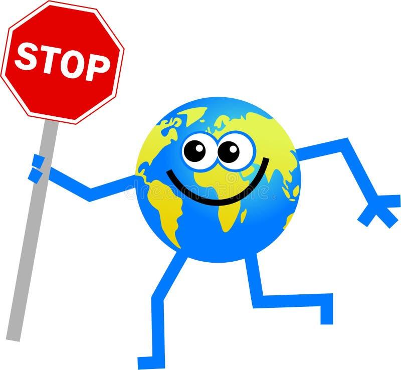 Pare o globo ilustração do vetor