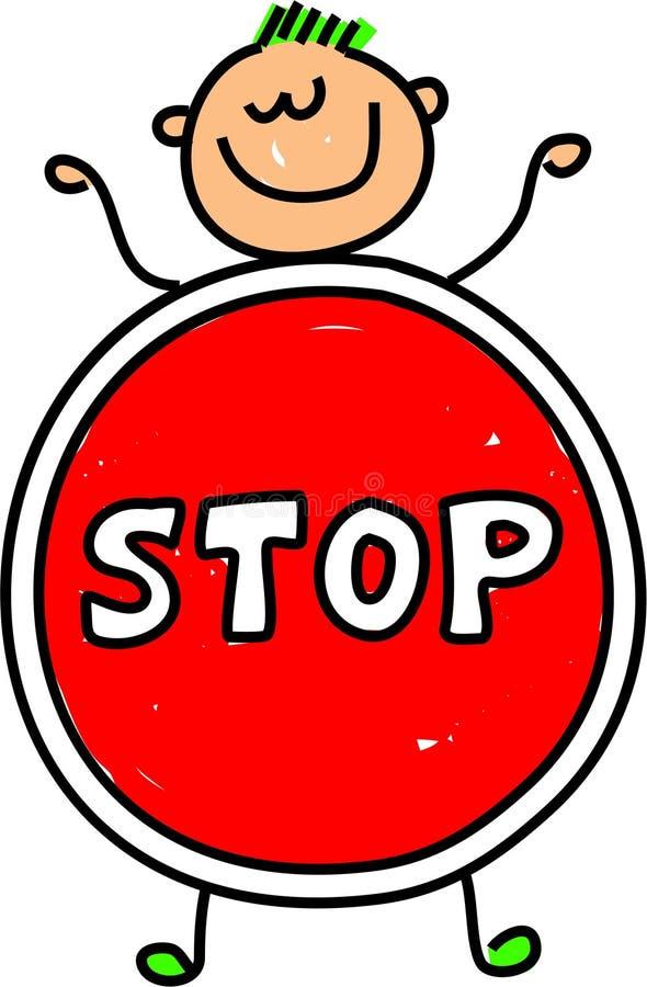 Pare o miúdo ilustração do vetor