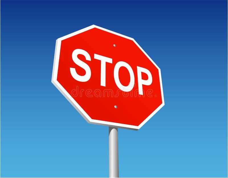 Pare o sinal ilustração royalty free