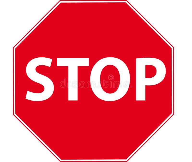 Pare o sinal ilustração stock