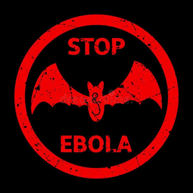 Pare o sinal de aviso de Ebola ilustração stock