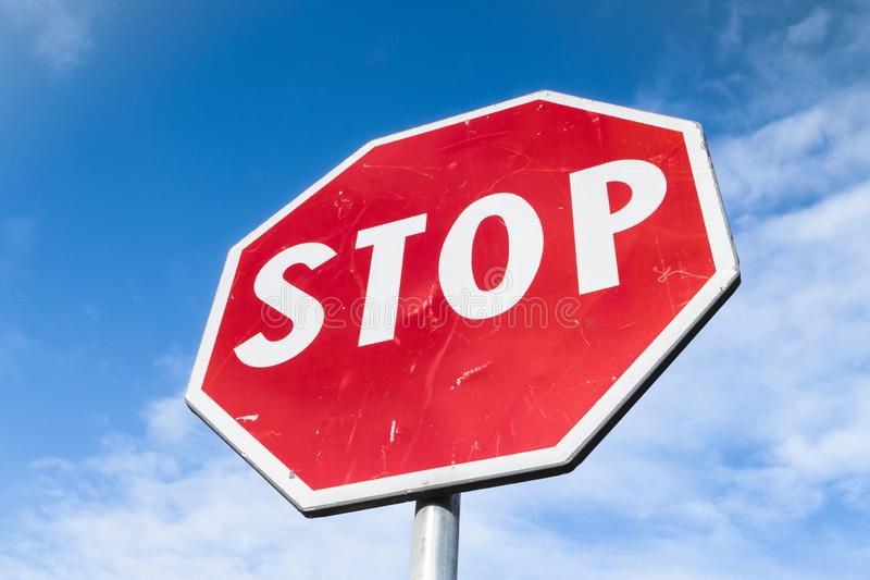 Pare o sinal de estrada foto de stock royalty free
