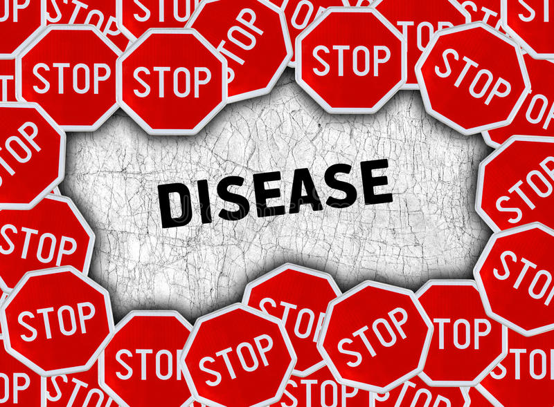 Pare o sinal e exprima a doença ilustração royalty free