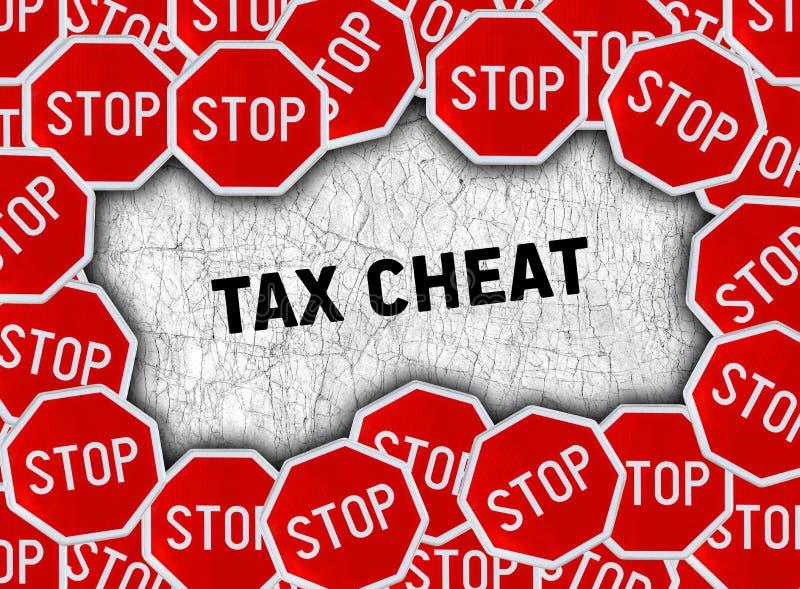 Pare o sinal e exprima a fraude do imposto ilustração stock