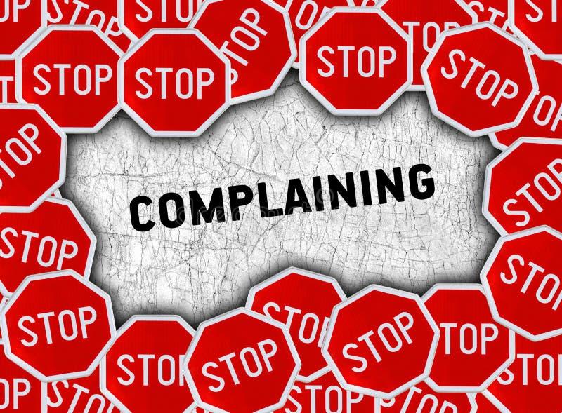 Pare o sinal e exprima a queixa ilustração stock