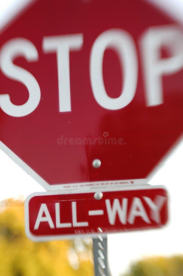 Pare o sonho do sinal   fotografia de stock royalty free