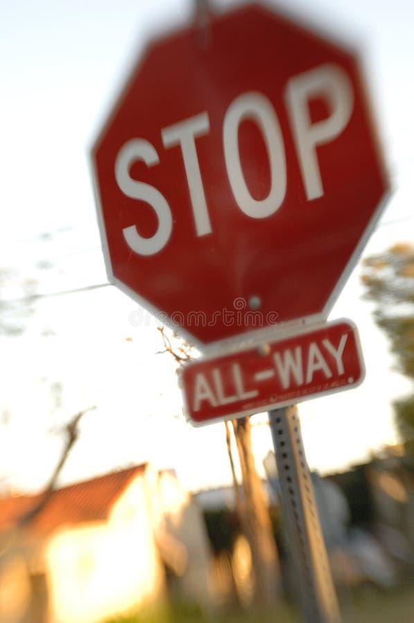 Pare o sonho do sinal   fotografia de stock