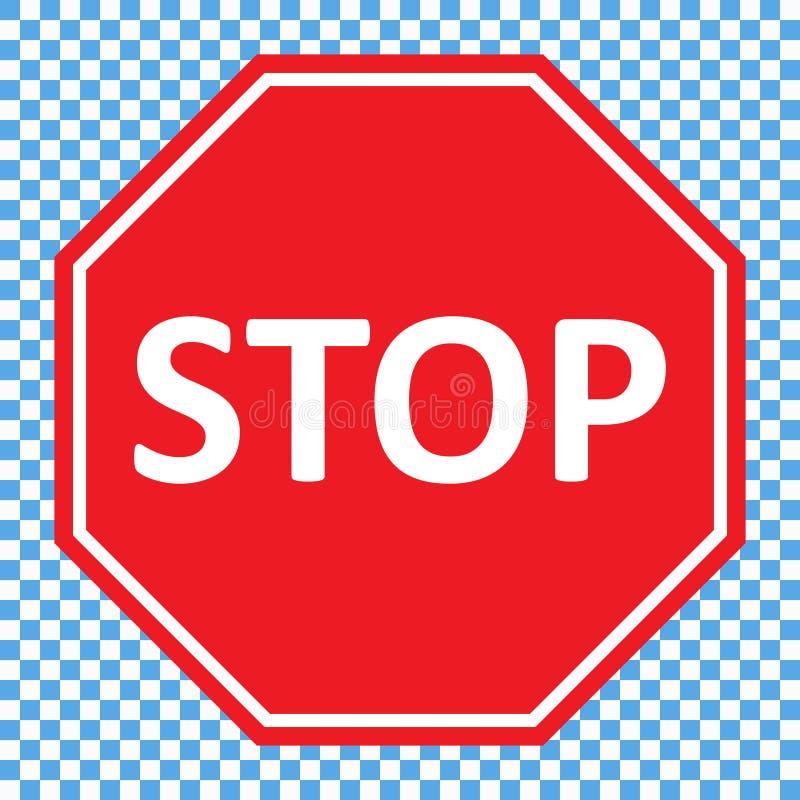 Pare o vetor do sinal ilustração stock
