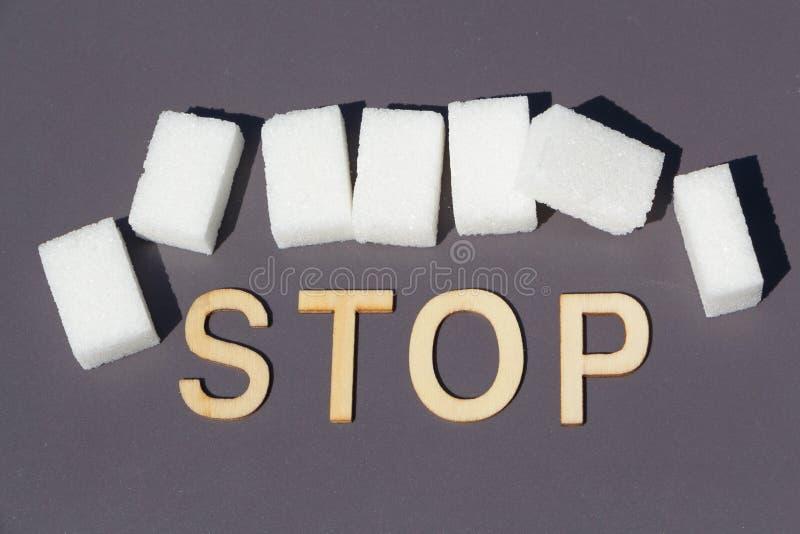 Pare para azucarar imagen de archivo libre de regalías