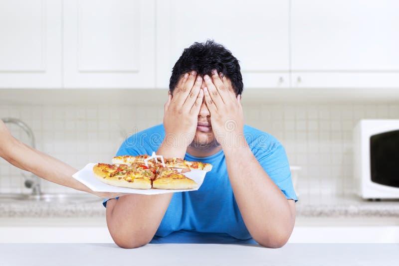 Pare para comer a comida lixo 2 fotografia de stock