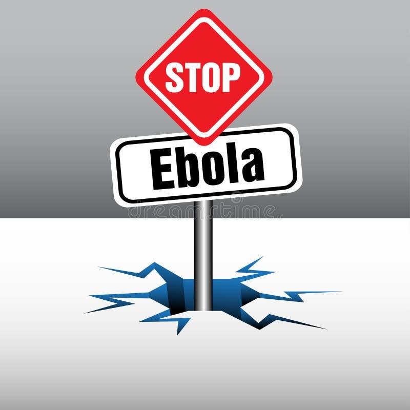 Pare a placa de Ebola ilustração do vetor