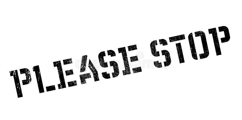 Pare por favor el sello de goma imagen de archivo libre de regalías