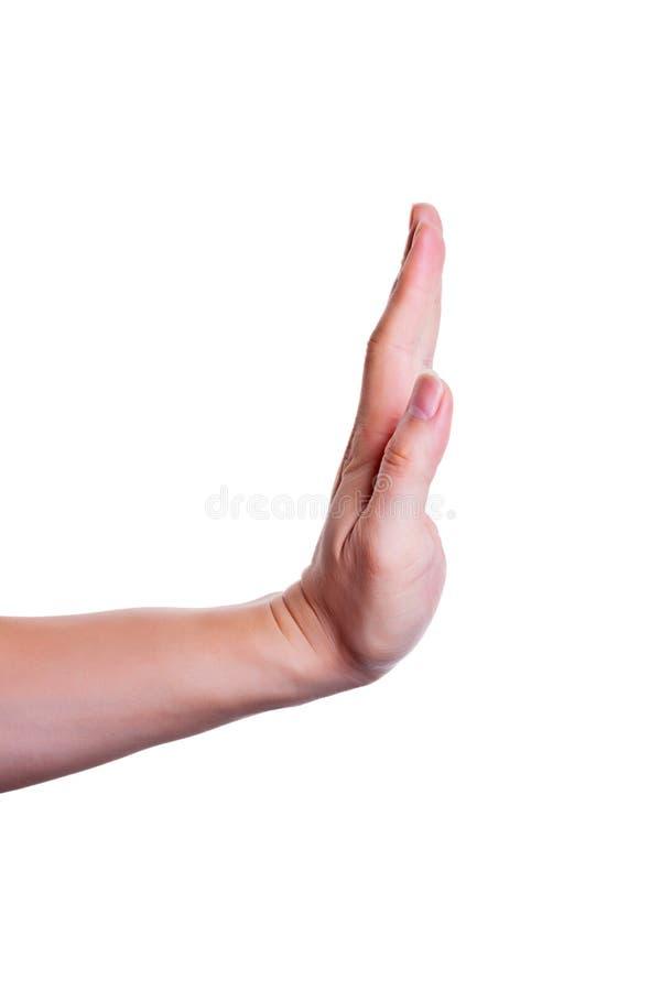 Pare/prohíba el gesto fotografía de archivo