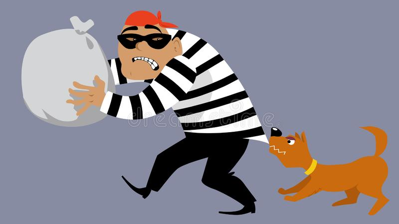 Pare a un ladrón stock de ilustración