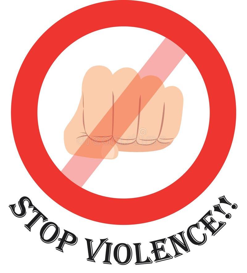 Pare a violência fotografia de stock