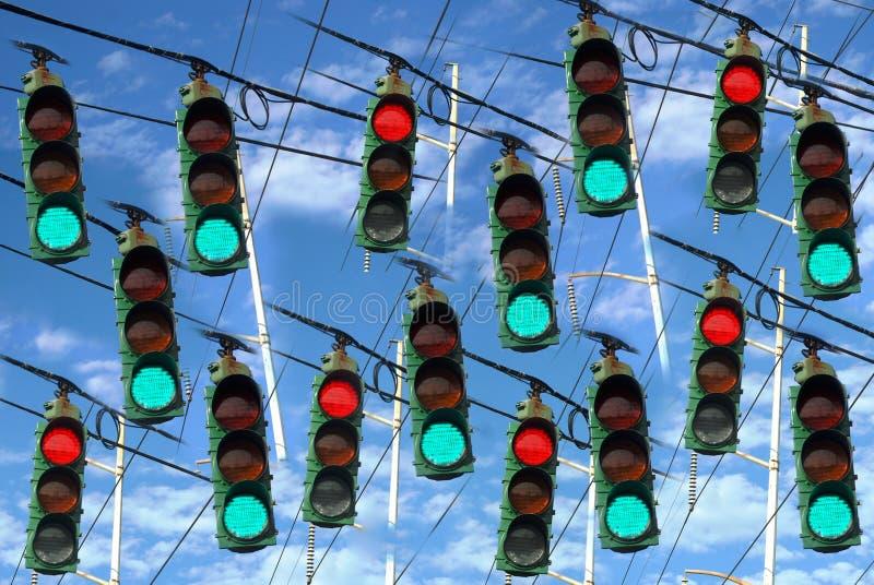 Pare y vaya las luces imagen de archivo libre de regalías