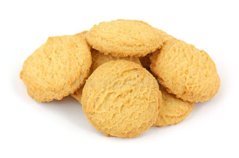 Parecchi biscotti della cialda della vaniglia fotografia stock