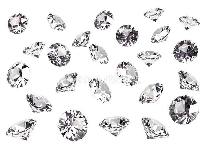 Parecchi diamanti royalty illustrazione gratis