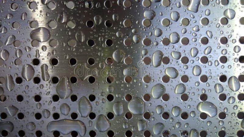 Parecchie gocce di acqua fresche fotografie stock libere da diritti