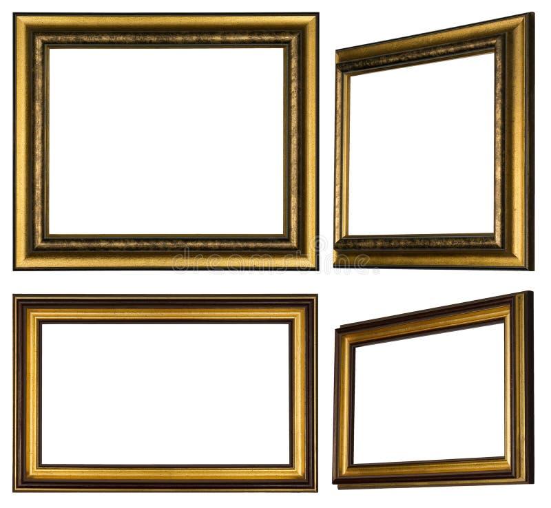 Parecchie strutture di legno dipinte per appendere le immagini sopra illustrazione di stock