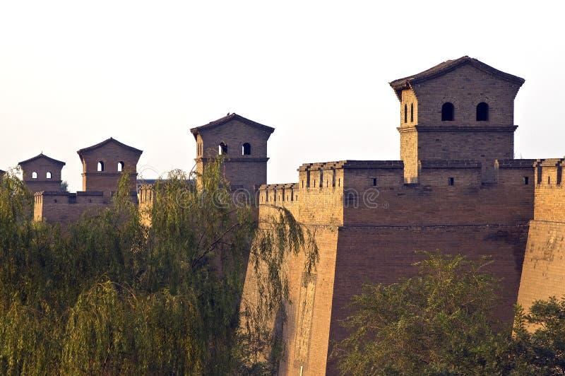 Pared antigua de la ciudad de China imagenes de archivo