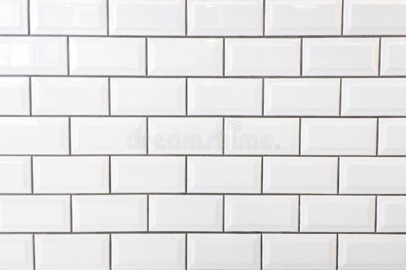 Pared blanca del azulejo imagenes de archivo