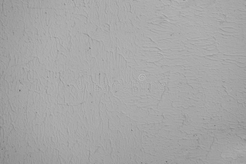 Pared blanca del estuco del cemento del gris con la superficie de la textura de la esponja imagen de archivo