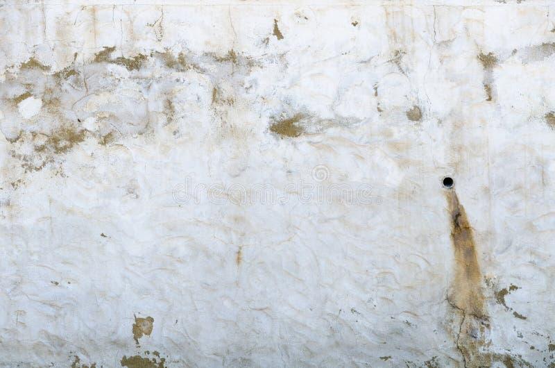 Pared blanca del yeso sucio foto de archivo libre de regalías